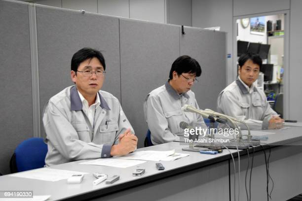 Senior principal scientist in Fast Reactor Fuel Technology Development Department of Japan Atomic Energy Agency Masato Kato speaks during a press...