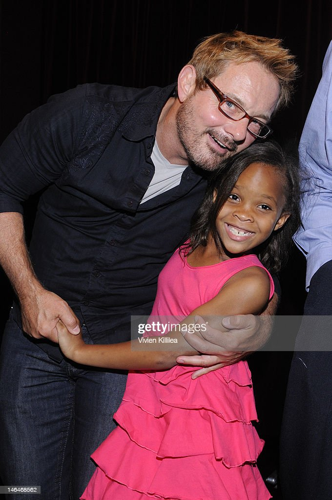Senior programmer at the Sundance Film Festival David Courier and actress Quvenzhane Wallis attend 'Beasts Of The Southern Wild' Special Screening - Panel And Q&A at Soho House on June 16, 2012 in West Hollywood, California.