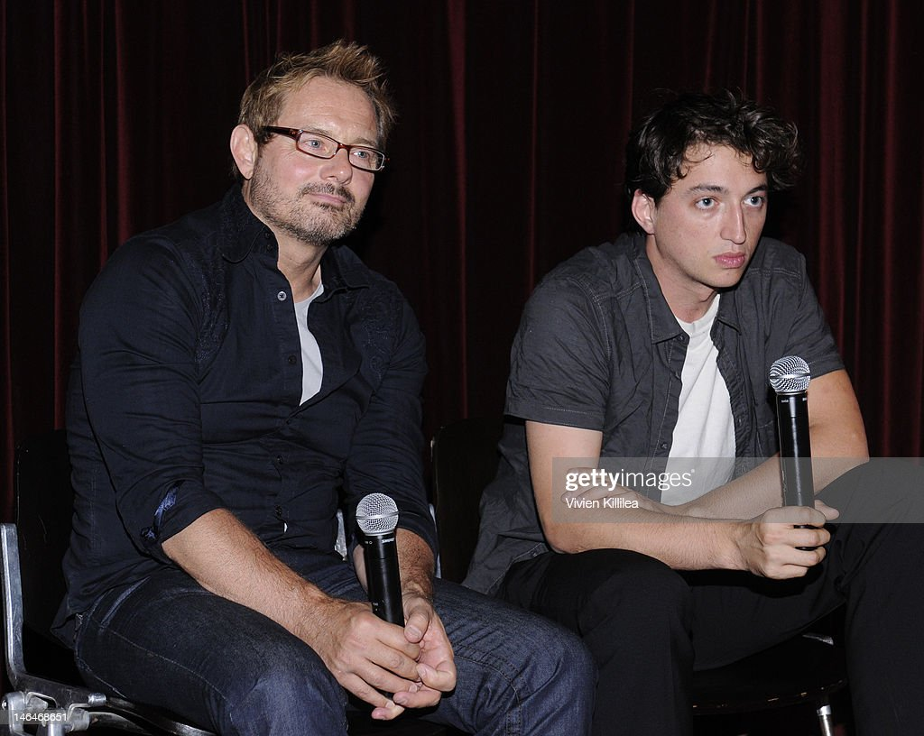 Senior programmer at the Sundance Film Festival David Courier and director Benh Zeitlin attend 'Beasts Of The Southern Wild' Special Screening - Panel And Q&A at Soho House on June 16, 2012 in West Hollywood, California.