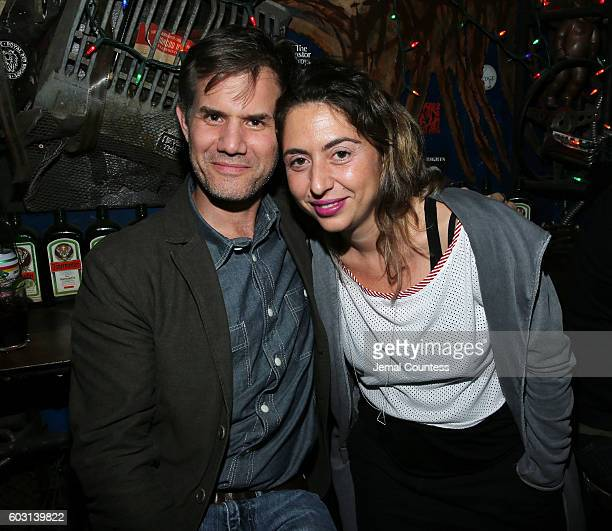 Senior Programmer at the Sundance Film Festival John Nein and Director Sofia Exarchou attend Locarno's Late Drink At TIFF at Bovine on September 11...