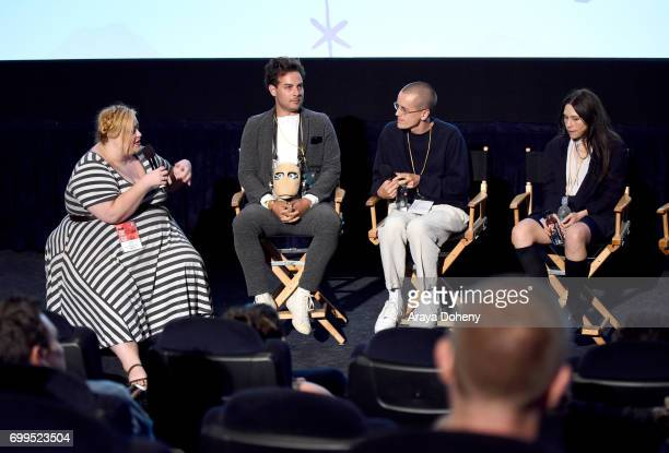 Senior Programmer Head of Filmmaker Relations Drea Clark Saul Germaine Pete Ohs and Andrea Sisson attend the screening of 'Everything Beautiful Is...