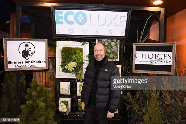 Senior Regional Director of Public Relations Communications at Shriners Hospitals for Children Mike Babcock attends EcoLuxe Lounge Ten Years at...
