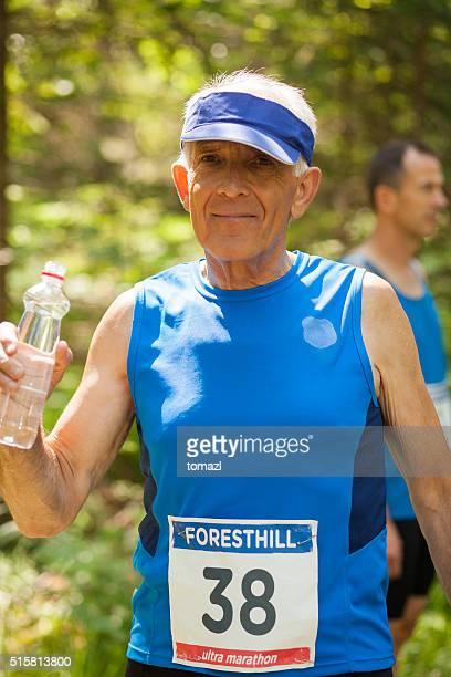 Senior runner befor start of the cross country race