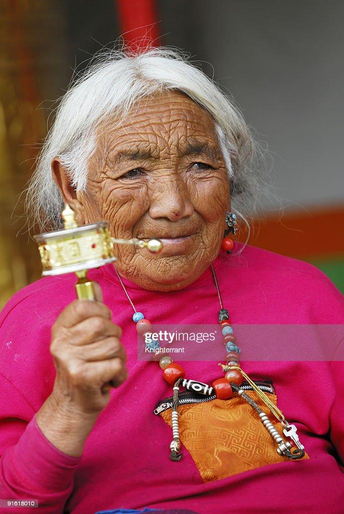 Senior Tibetan Prayer