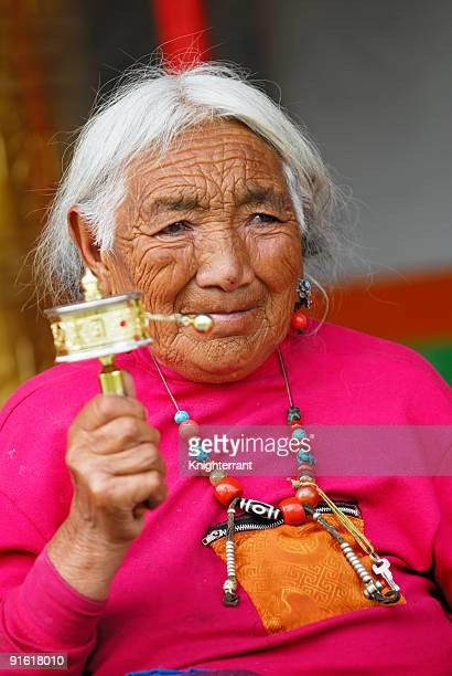 Senior Tibetan Prayer