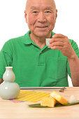 Senior to drink sake