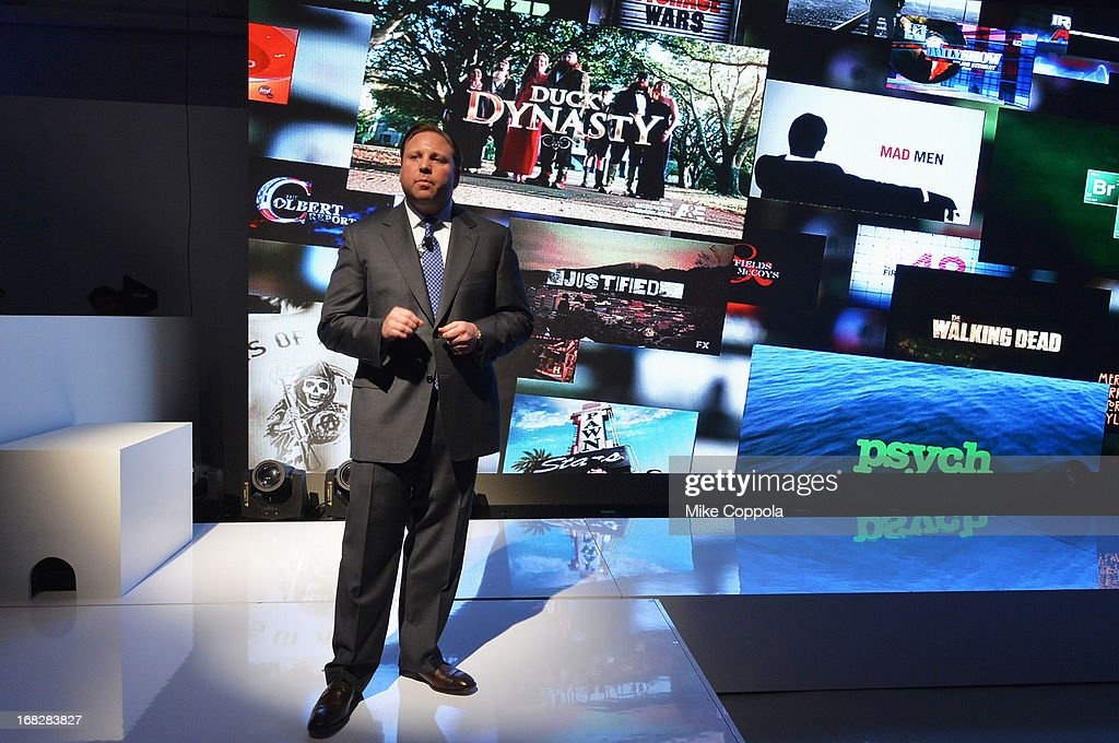 Senior Vice President, Ad Sales, Keith Kazerman speaks onstage at DIRECTV's 2013 National Ad Sales Upfront on May 7, 2013 in New York City.