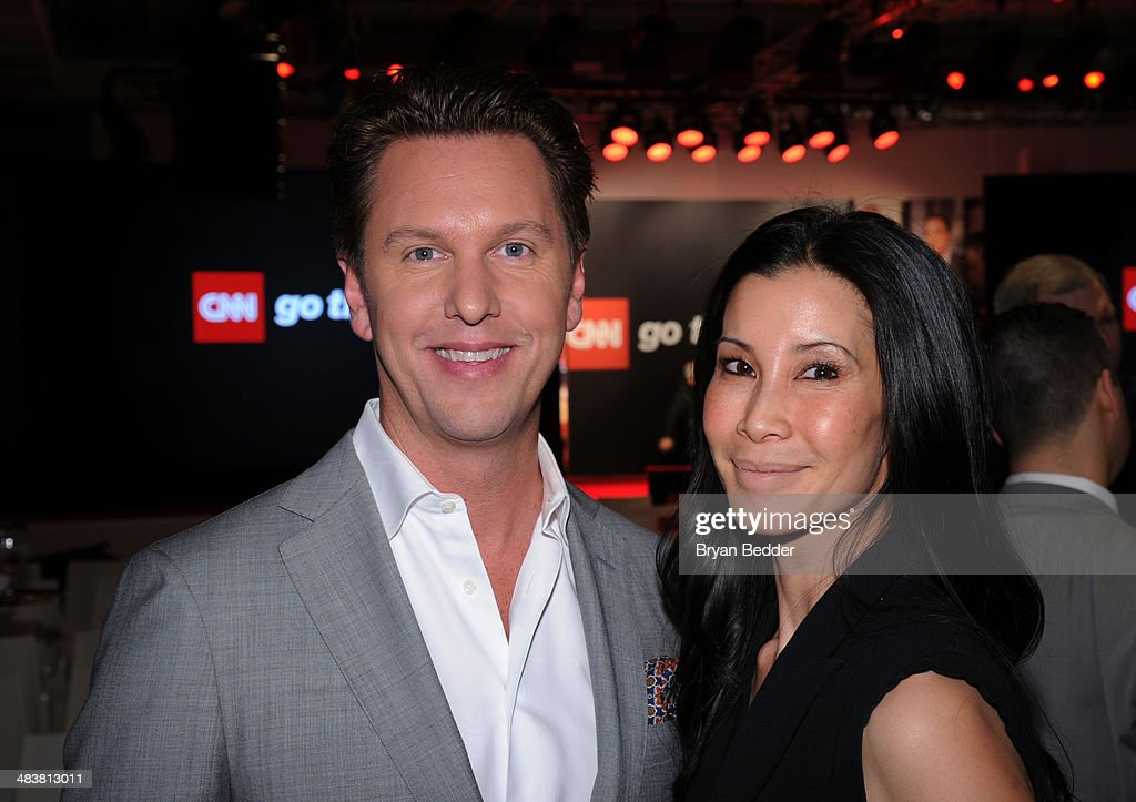 Senior vice president and general manager of CNN Digital Kenneth 'KC' Estenson and <a gi-track='captionPersonalityLinkClicked' href=/galleries/search?phrase=Lisa+Ling&family=editorial&specificpeople=240577 ng-click='$event.stopPropagation()'>Lisa Ling</a> attend the CNN Upfront 2014 at Skylight Modern on April 10, 2014 in New York City. 24679_002_0286.JPG