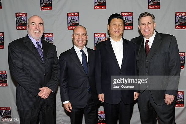 Senior Vice President and General Manager of Staples Center Lee Zeidman President and CEO of AEG China John Cappo Chinese Vice President Xi Jinping...