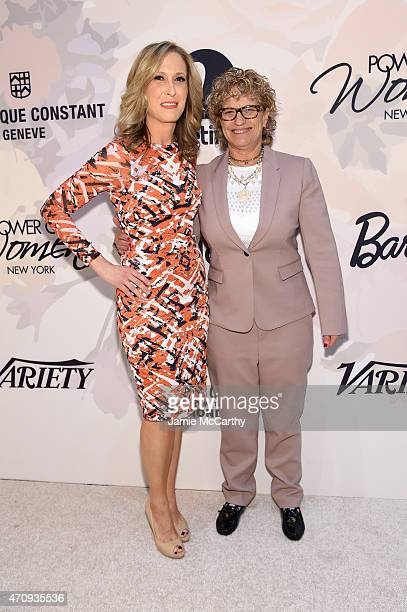 Senior Vice President and publisher of Variety Michelle SobrinoStearns and CoEditorinChief of Variety Claudia Eller attend Variety's Power of Women...