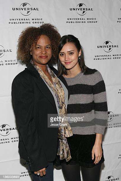 Senior Vice President Creative Universal Music Publishing Group Donna Caseine and singer Dia Frampton attend Universal Music Publishing Group's 2011...