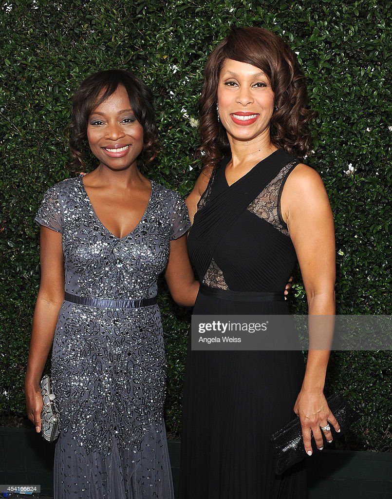 Senior Vice President, Drama Development, ABC Studios Nne Ebong (L) and Executive Vice President, Drama Development, Movies & Miniseries, ABC Entertainment Group Channing Dungey attend the 66th Annual Primetime Emmy Awards held at the Nokia Theatre L.A. Live on August 25, 2014 in Los Angeles, California.