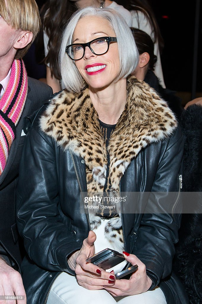 Senior Vice President, Fashion Office and Store Presentation of Bergdorf Goodman Linda Fargo attends Philosophy By Natalie Ratabesi during fall 2013 Mercedes-Benz Fashion Week on February 13, 2013 in New York City.