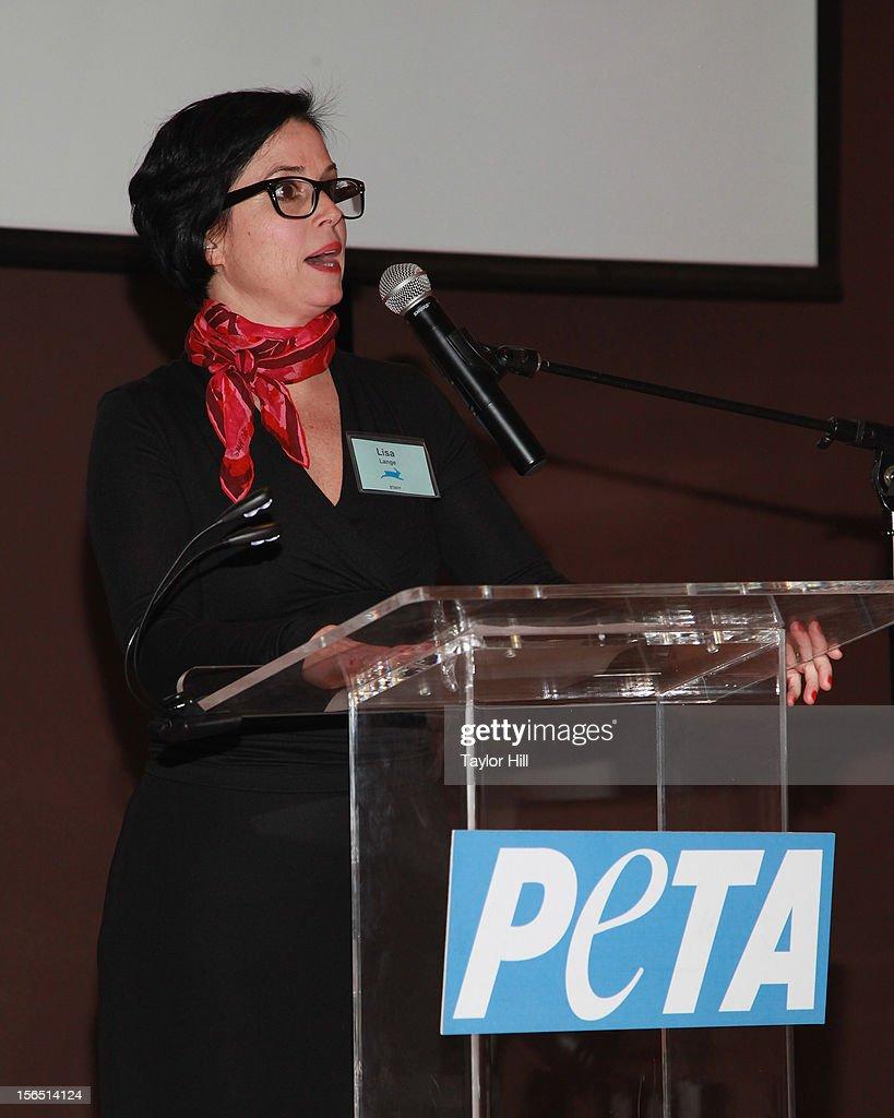 Senior Vice President for Communications Lisa Lange attends a PETA Fundraiser at The Standard Hotel on November 15, 2012 in New York City.