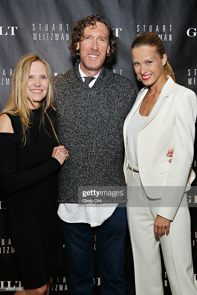 Senior Vice President Global Marketing and Communications for Stuart Weitzman, Susan Duffy, Chief Executive Officer for Stuart Weitzman, Wayne Kulkin and <a gi-track='captionPersonalityLinkClicked' href=/galleries/search?phrase=Petra+Nemcova&family=editorial&specificpeople=201716 ng-click='$event.stopPropagation()'>Petra Nemcova</a> attend as Gilt And Stuart Weitzman celebrate the 5050 Boot 20th anniversary on October 16, 2013 in New York City.