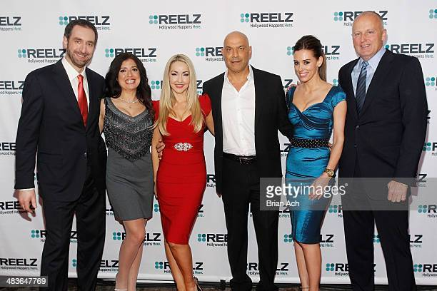 Senior Vice President of Advertising Sales at Reelz Bill Rosolie Dominique Pinassi Aria Johnson Yossi Dina and Cory Oliver of Beverly Hills Pawn and...