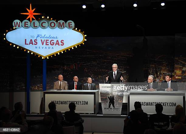 Senior Vice President of Arenas for MGM Resorts International Mark Prows President and CEO of the Las Vegas Convention Visitors Authority Rossi...