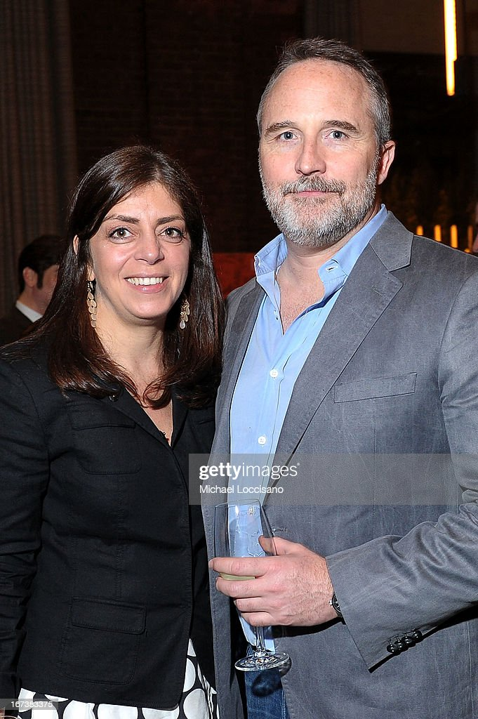 Senior Vice President of Documentary Films Nancy Abraham (L) and Jeff Dupre attend HBO's 'The Battle of amFAR' premiere at Tribeca Film Festival on April 24, 2013 in New York City.