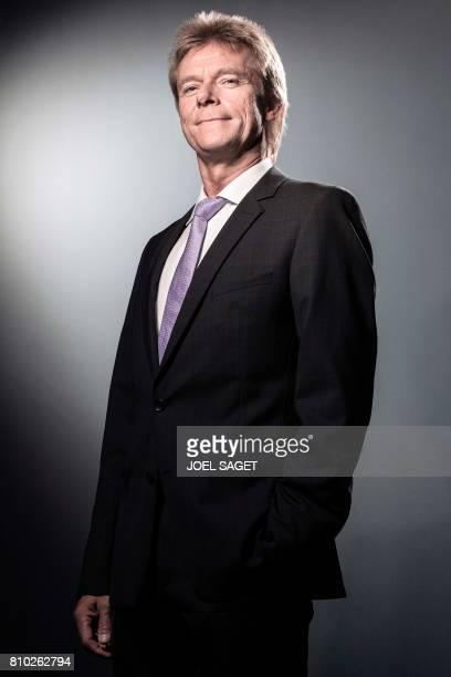 Senior Vice President of German news agency DPA Matthias Mahn poses during a photo session in Paris on July 6 2017 / AFP PHOTO / JOEL SAGET