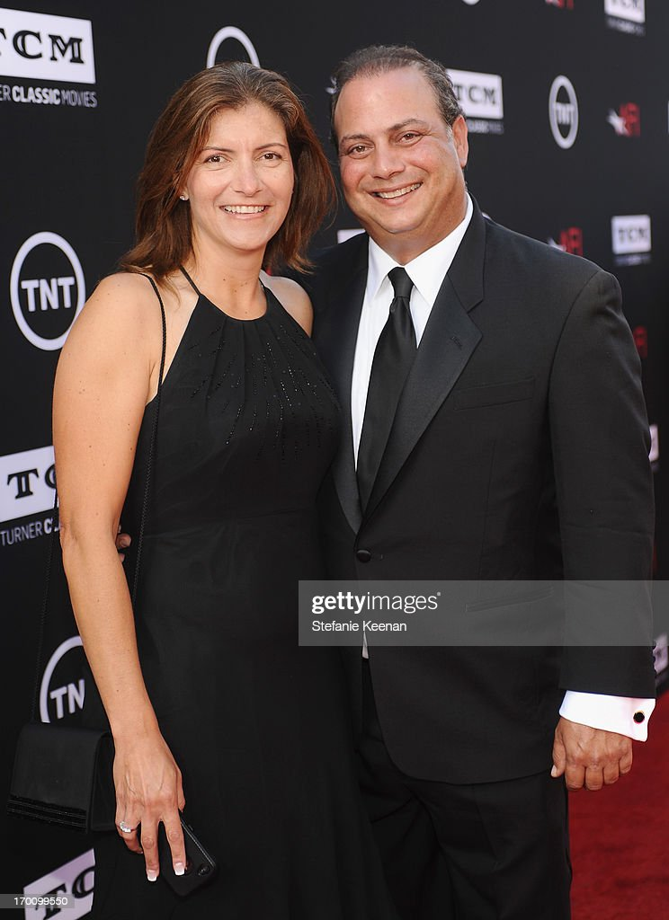 Senior Vice President of Production at Turner Broadcasting System Mark Weissman (R) and Carmit Weissman attend AFI's 41st Life Achievement Award Tribute to Mel Brooks at Dolby Theatre on June 6, 2013 in Hollywood, California. 23647_003_SK_0104.JPG