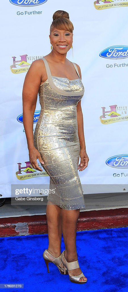 Senior Vice President of Public Affairs at Nielsen Cheryl Pearson-McNeil arrives at the 11th annual Ford Neighborhood Awards at the MGM Grand Garden Arena on August 10, 2013 in Las Vegas, Nevada.