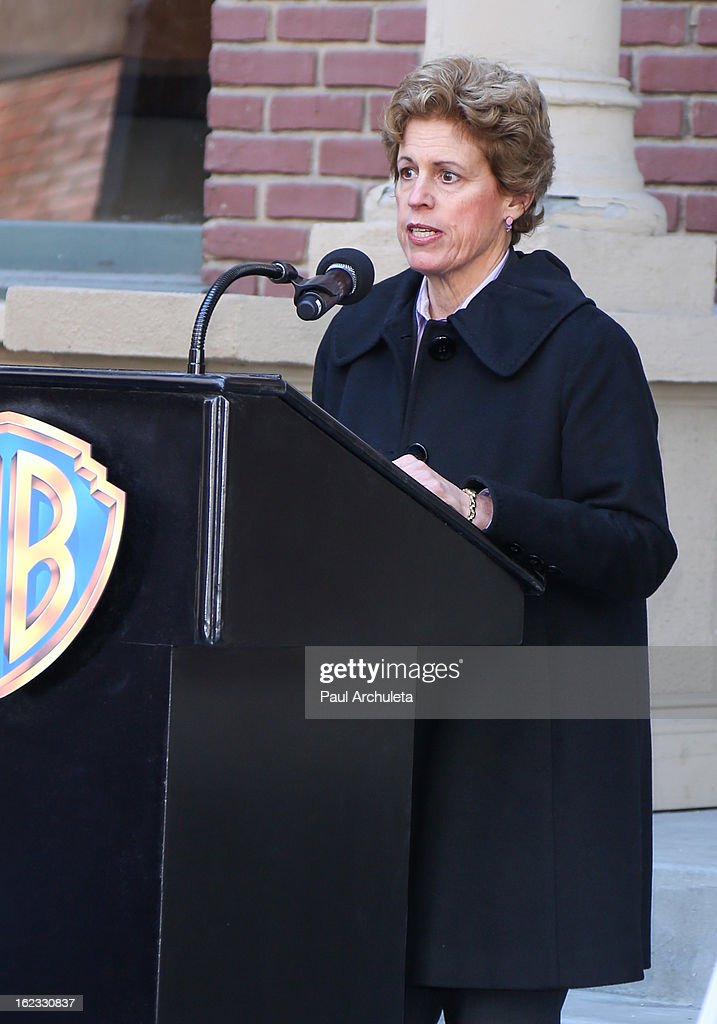 Senior Vice President of Public Affairs for Warner Bros. Lisa Rawlins attends the presentation of the 2nd annual 'Made In Hollywood Award' to the crew of the Oscar nominated film 'Argo' at Warner Bros. Studios on February 21, 2013 in Burbank, California.