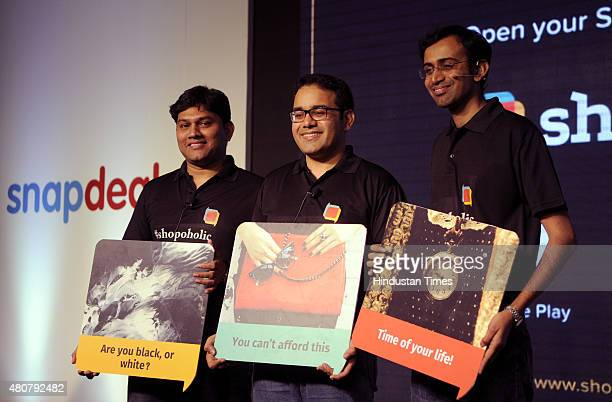 Senior Vice President of Shopo Sandeep Komaravelly Cofounder and CEO of Snapdeal Kunal Bahl and Chief Product officer of Snapdeal Anand...