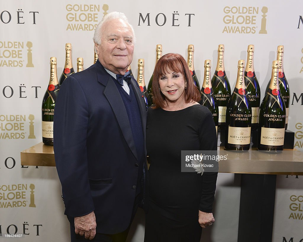 Senior vice president of Southern Wine and Spirits of America Mel Dick and Bobbi Dick attend Moet & Chandon At The 70th Annual Golden Globe Awards Red Carpet at The Beverly Hilton Hotel on January 13, 2013 in Beverly Hills, California.
