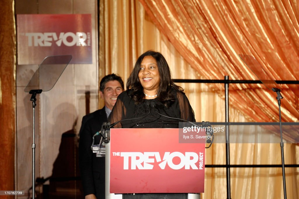 Senior Vice President of Wells Fargo Michelle Lee speaks on stage at The Trevor Project's 2013 'TrevorLIVE' Event Honoring Cindy Hensley McCain at Chelsea Piers on June 17, 2013 in New York City.