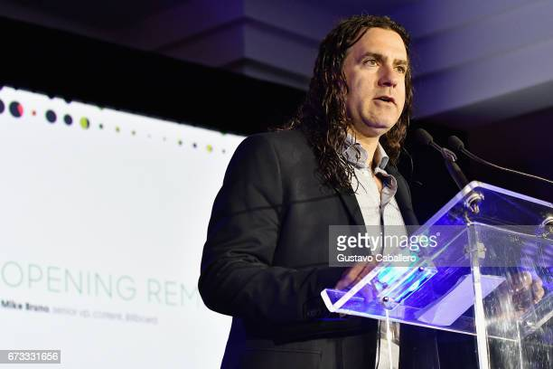 Senior VP Content Billboard Mike Bruno speaks at the Billboard Latin Conference 2017 at Ritz Carlton South Beach on April 26 2017 in Miami Beach...