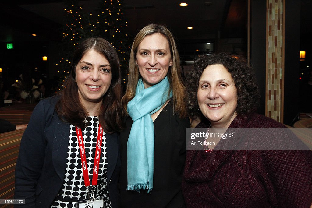 Senior VP HBO Documentary Films Nancy Abraham, Nada Bakos and Cindy Storer attend the HBO Documentary Films Sundance Party on January 20, 2013 in Park City, Utah.