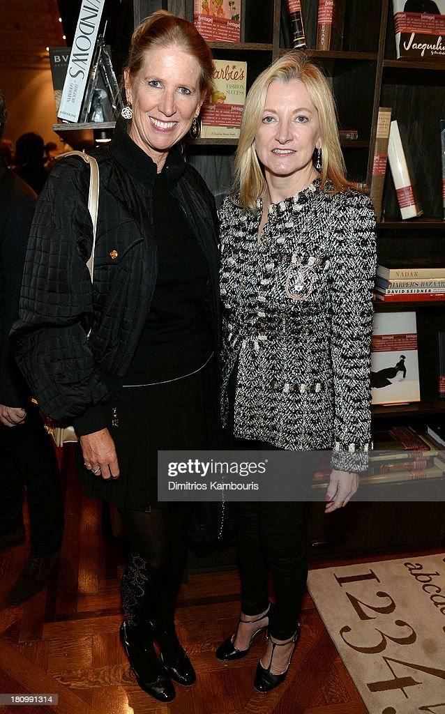 Senior VP of Retail Division of Chanel, Susan Clatworthy and CEO of Chanel Barbara Cirkva attend ASSOULINE, Martine and Prosper Assouline host a book signing for Ketty Pucci-Sisti Maisonrouge's 'The Luxury Alchemist' at Assouline at The Plaza Hotel on September 18, 2013 in New York City.
