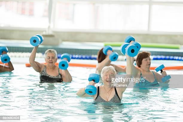 Senior Water Aerobics Class