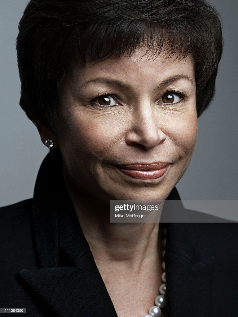 Senior White House Advisor <a gi-track='captionPersonalityLinkClicked' href=/galleries/search?phrase=Valerie+Jarrett&family=editorial&specificpeople=5003206 ng-click='$event.stopPropagation()'>Valerie Jarrett</a> is photographed for Time Magazine in on February 20, 2009 in Washington, DC.