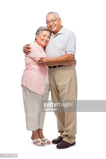 Senior wife embracing her husband