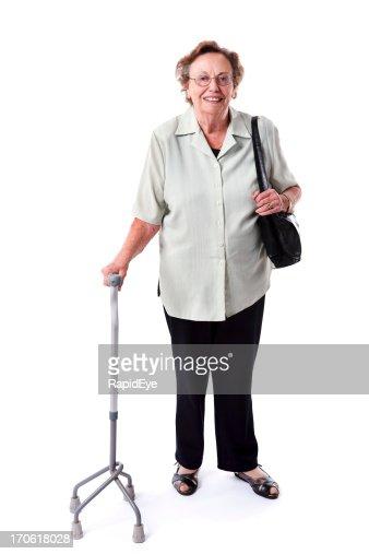 Senior with a stick