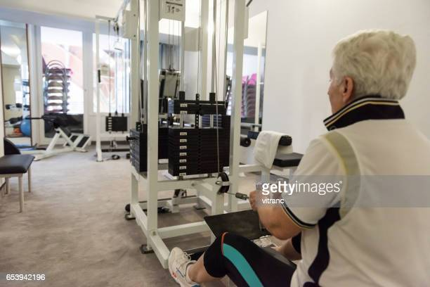 Senior woman at fitness