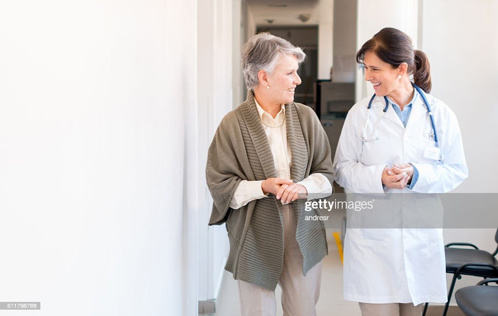 Senior woman at the hospital : Stock Photo