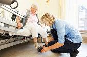 senior woman care in hospital