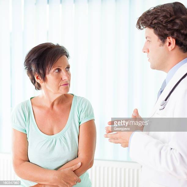 Senior woman communicate with doctor