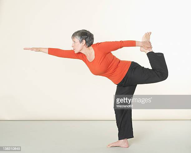 Senior woman doing exercising