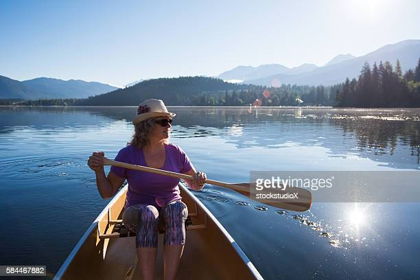 Senior woman enjoying an active retirement