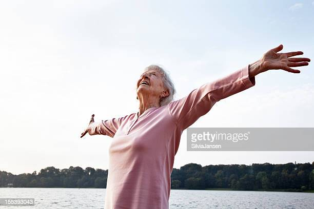 senior woman enjoying life