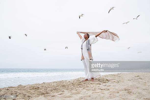 Senior woman freedom