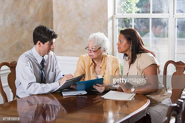 Senior woman getting advice
