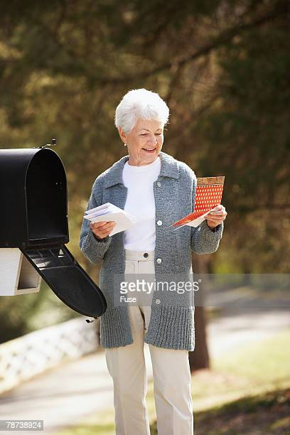 Senior Woman Getting the Mail