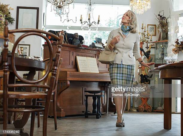 Senior Woman in Antique Shop