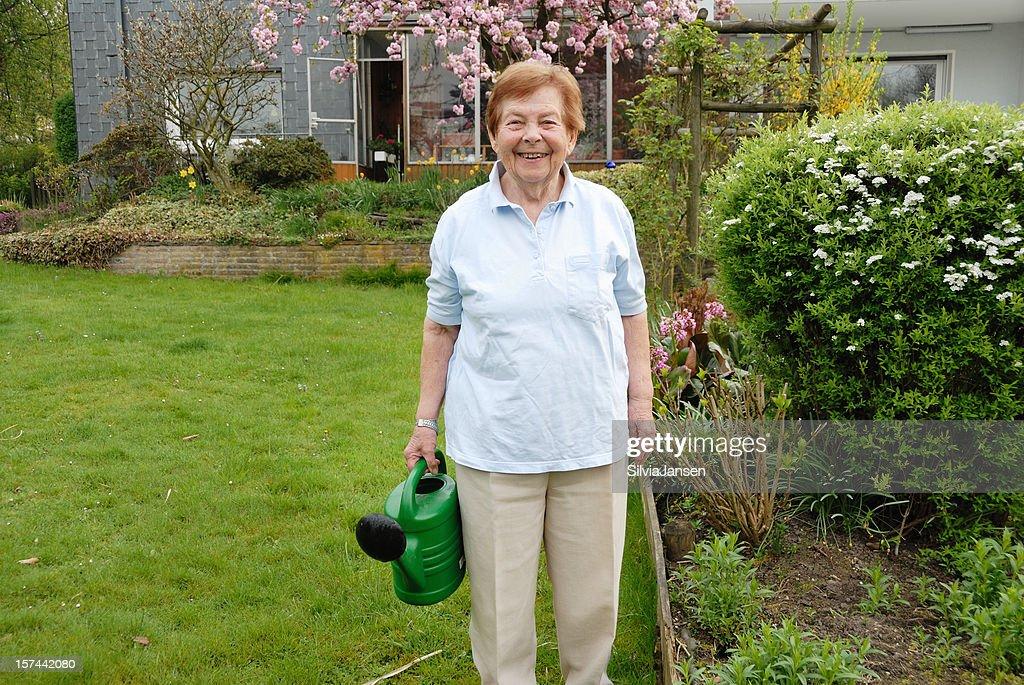 senior woman in her garden