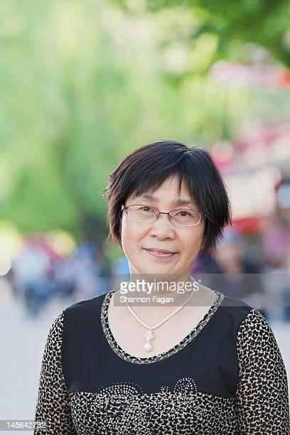 Senior Woman in Houhai