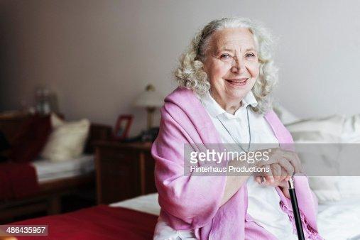 Senior Woman In Retirement Home